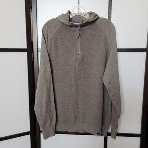 Patagonia 1/4 zip grey knit YEWCRAG sweater hoodie